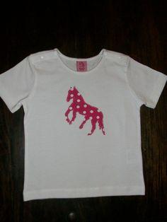 """T-Shirts - süßes Mädchen-shirt """"Pferd"""" Gr. 86 - ein Designerstück von Boensch-Manuela bei DaWanda"""