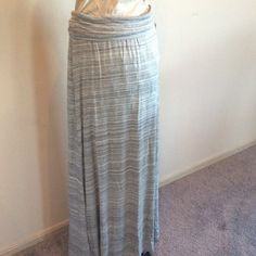 Grey Maxi! Classic grey max! Perfect for a day at work or a casual day out! New with tags! Mossimo Supply Co Skirts Maxi