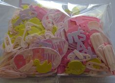 Pink Stitch Themed Table Confetti / Table Scatters