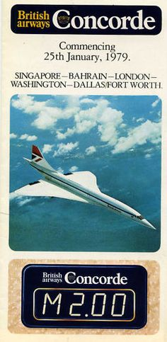 British Airways Concorde (Time-table for the start of her american transatlantic crossing's)
