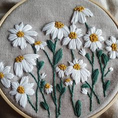 PDF DIGITAL Pattern Wild Daisies DIY - Thread Unraveled - Beginner Embroidery Pattern,Customize apparel with embroidery - how it works Your own personal style and self-fulfillment through style have never played a better position than t. Floral Embroidery Patterns, Simple Embroidery, Hand Embroidery Stitches, Embroidery Hoop Art, Crewel Embroidery, Hand Embroidery Designs, Beginner Embroidery, Machine Embroidery, Hand Stitching