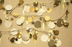 Bet I could DIY this ~ Big Sequins Lighted Garland (battery operated LEDs) from Luna Bazaar