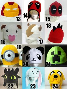 Gorros Kawaii Otaku Anime Jake Finn Chimuelo Deadpool - Bs. 5.500,00
