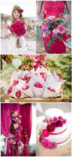 Bright Pink Sommerhochzeit Ideen im Jahr 2015