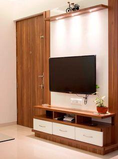 Living Room Tv unit: living room by yaama intart, Living Room Partition Design, Room Door Design, Living Room Sofa Design, Tv Wall Design, Home Room Design, Design Case, Living Rooms, Modern Tv Unit Designs, Modern Tv Wall Units