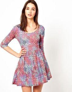 ShopStyle.com: A Wear Scoop Back 3/4 Sleeve Jersey Dress $25.31
