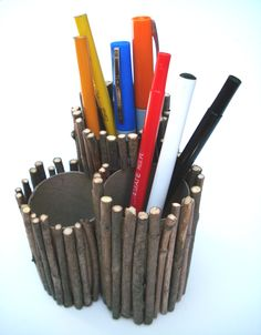 Nature Inspired Twig Pencil Holder Craft - Ziggity Zoom Family