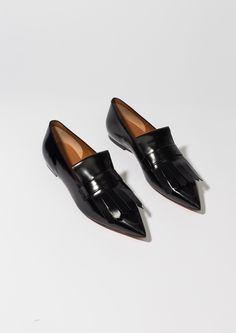 Celine Black Pointy Loafer With Fringes - love 'en, but cost €610!