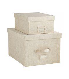 Linen Storage Boxes via @WhoWhatWear
