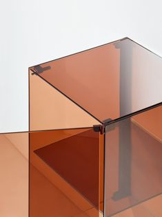 """Minimalist Wall-Mounted Furniture System """"RGB"""" by Stefan Diez Glass Furniture, Cool Furniture, Furniture Design, Laminated Glass, Linear Lighting, Safety Glass, Aluminium, Industrial Design, Table Lamp"""