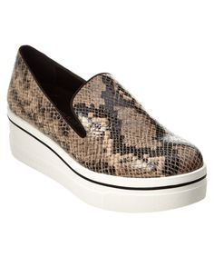 STELLA MCCARTNEY STELLA MCCARTNEY BINX EMBOSSED PLATFORM LOAFER'. #stellamccartney #shoes #flats