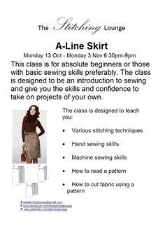 Skirt Class has started, great fun
