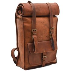 Leather Rolltop Backpack - Johnny Fly Co. - EcoFashion