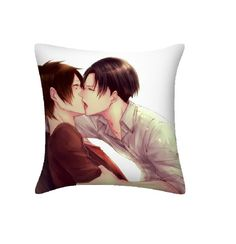 Attack on Titan Pillow Levi and Eren Jaeger Throw Pillows For Youth