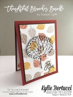Stampin' Up! Australia: Kylie Bertucci Independent Demonstrator: Thoughtful Branches Bundle Sneak Peek