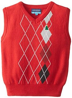 Andy & Evan Little Boys' Christmas Tree Sweater Vest, Red, Christmas Tree Sweater, Red Christmas, Sweater Fashion, Boy Fashion, Mens Winter, Boys Sweaters, Coupon Websites, Men Clothes, Product Review