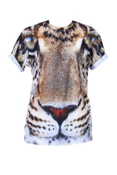 Leopard eyes t-shirt - Bold prints are Mr Gugu & Miss Go's signature. Give an original twist to your casual wardrobe with this outstanding t-shirt with lampart eyes print: details include a crew neck and soft fabric.  100% Polyester