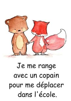 Règles de vie pour mes oursons French Expressions, Petite Section, Teaching French, Class Management, Preschool, Classroom, Ps, Education, Writing