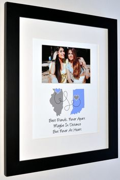 Moving Away Gift For Friend Long Distance Best Friend by Picmats