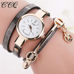 Fashion Women Leather Bracelet Watch Casual Women Wristwatch Luxury Brand Quartz Watch
