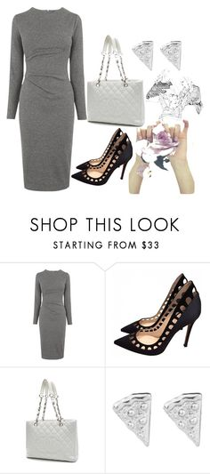 """silver"" by ak1995 ❤ liked on Polyvore featuring Whistles, Gianvito Rossi and Chanel"