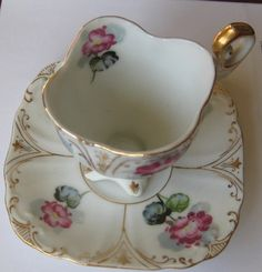 ucagco tea cups and saucers | Vintage Ucagco Floral Tea Cup and Saucer Made in Occupied Japan