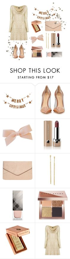 """Christmas 🎄"" by andreachidisima ❤ liked on Polyvore featuring Bloomingville, Gianvito Rossi, Marc Jacobs, Dorothy Perkins, Lana Jewelry, Burberry, Bobbi Brown Cosmetics and Nicole Coste"