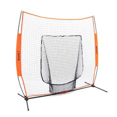 Bownet 7' x 7' Big Mouth X - New, Original and Most Used Portable Sock Net for Baseball and Softball Hitting and Pitching