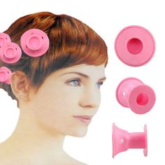 10Pcs Silicone Hair Curler Hair Care DIY Peco Roll Hair Style Roller Curling Use -- This is an Amazon Affiliate link. To view further for this item, visit the image link.