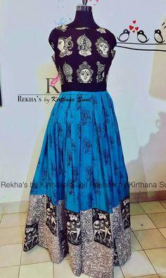 Women S Fashion Dresses Online Kalamkari Designs, Kurta Designs, Blouse Designs, Dress Designs, Long Gown Dress, Frock Dress, Long Frock, Long Gowns, Long Dresses