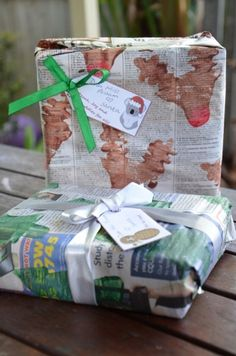 Newspaper craft (also for children). #christmas #giftwrapping #DIY
