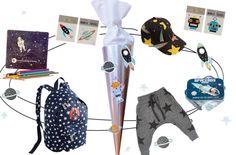 Inhalt Schultüte Rakete - tolle Ideen für die Füllung der Zuckertüte zur Einschulung! Für kleine Weltraum-Fans - mehr auf FAMILICIOUS.de