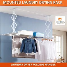 [$59.00](▼81%)Ceiling Mounted String Chain Laundry Drying Rack Best Selling in KOREA/Clothes Laundry