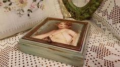 Handmade wooden jewellery box with decoupage