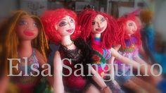 Hand made fabric dolls. Elsa Sanguino. 2013
