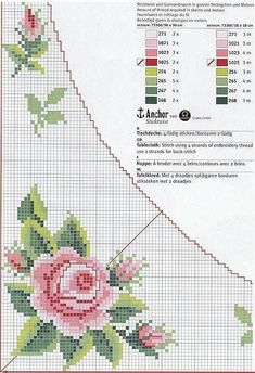 This Pin was discovered by San Beaded Cross Stitch, Cross Stitch Rose, Cross Stitch Flowers, Cross Stitch Embroidery, Cross Stitch Designs, Cross Stitch Patterns, Cross Stitch Boards, Hand Embroidery Designs, Cross Stitching