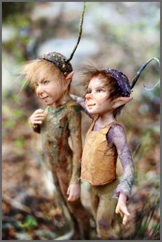 This has got to be what little boy fairies really look like. Pixies by Tatjana Raum