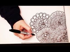 ▶ Doodling ASMR Style with Sophie (High Quality Sound, drawing, cutting, crinkling, tapping sounds) - YouTube