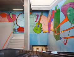 Michael Craig-Martin Designs Major Public Artwork at DLR Woolwich Station Woolwich Arsenal, Docklands Light Railway, Michael Craig, Still Life Artists, Collections Of Objects, Graffiti Wall, Vanitas, New Details, Western Art