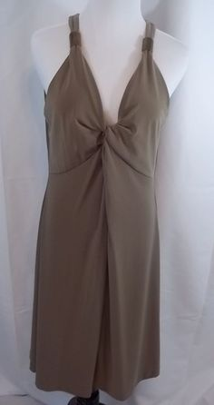 Womens Kenneth Cole New York Summer Dress Size Large L NWT Beige Tobacco Color #KennethCole #Sexy #Clubwear