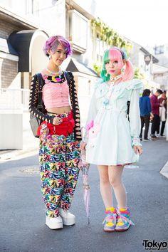 Kawaii Harajuku Styles w/ Pastel Hair, 6%DOKIDOKI, Cosmic Magicals & My Melody (Tokyo Fashion, 2015)