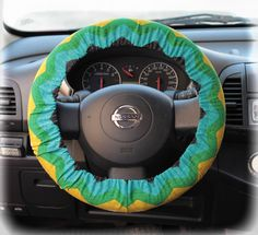 Steering wheel cover for wheel car accessories Zigzag, Chevron print