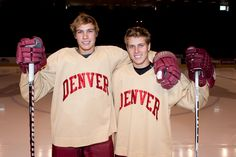 Beau & Wade Bennett, University of Denver 2011 season; Beau plays for Pittsburgh Penguins!! And Wade has hip problems that's why he doesn't play