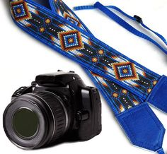 Native American Camera strap (not beaded). Southwestern Ethnic Camera strap. DSLR / SLR Camera Strap. Photo Camera accessories. For Sony, canon, nikon, panasonic, fuji and other cameras.
