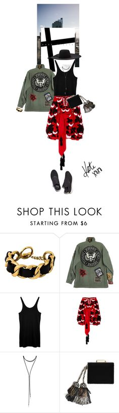 """""""Sem título #1576"""" by talita-roberto ❤ liked on Polyvore featuring Chanel, T By Alexander Wang, Yuliya Magdych, Forever 21, Reebok and Lanvin"""