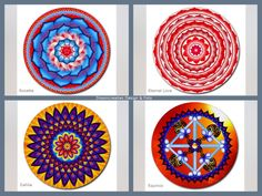 Mousepad mandala design- choose your favorite design: Rosette - Eternal Love - Dahlia - Equinox  This mousepad brings colour in your home,
