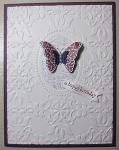 Top Stamping Technique - Double Texture Embossing...click to see how!