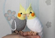 Cockatiel parrot Crochet white stuffed bird Amigurumi toy personalized plush toy Gift for mom pet loss toy cockatielThe rare gift for a special person who has a pet bird. A stuffed Cockatiel for girl and boy or personalized plush toy for a mother. Crochet Bird Patterns, Crochet Birds, Crochet Patterns Amigurumi, Crochet Animals, Crochet Dolls, Crochet Parrot, Crochet Humor, Funny Crochet, Looking For Friends