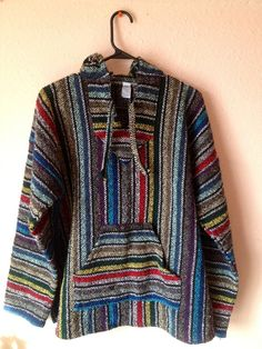 VTG Men's 80's 90's Drug Rug Rainbow Striped by #NIGHTWERKKVINTAGE, $34.00 #DRUGRUG #VINTAGE #CLOTHING #ETSY #MENS #FASHION