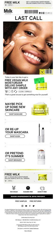 Email Newsletter Design, Email Newsletters, Email Design, Ecommerce, Makeup, Make Up, E Commerce, Face Makeup, Make Up Dupes